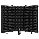 "Moukey Microphone Isolation Shield Foldable With 3/8"" and 5/8"" Mic Threaded Mount, 3"