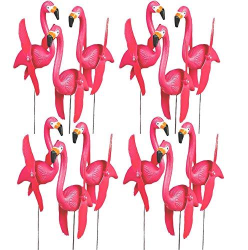 4E's Novelty - Juego de 12 Carteles de Flamenco Rosados para decoración de jardín, con estacas de 20 Pulgadas