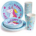 24-Count Hapray Tableware Sets for Baby Shower Theme Party