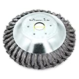 Buwico Wildkraut Fugenbürste Unkrautbürste, 6 Zoll /8 Zoll Rotary Weed Brush Joint Twist Disc Stahldraht Zopf-Kegelbürste, Durchmesser 150mm /200mm, Bohrung 25.4mm (8 Zoll)