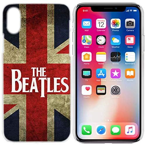 Aestgirl iPhone Case for American Flag iPhone Xr Beatles Flag Phone Case,Anti-Scratch Clear Back AC204 (Beatles-Flag, XR)