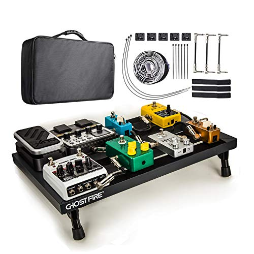 Vangoa Gitarre Pedal Board, Leichtgewichts Effects Pedalboard Aluminium Alloy Effektpedal Board, Tragbar
