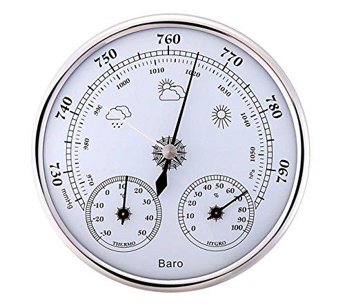 アナログ 式 壁掛け トリプルメーター 気圧計 温度計 湿度計 サーモ バロメーター 測定 管理