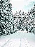 JHGJHK Escena de Nieve escandinava Pintura de Imagen Arte de Pared nórdico Paisaje de Invierno Moderno decoración de Ciervos decoración de Dormitorio póster Pintura al óleo (Imagen 3)