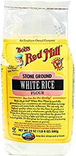 Bob's Red Mill Gluten Free White Rice Flour, 24 Oz (4 Pack)