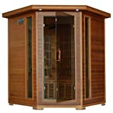Heatwave 4-Person Cedar Corner Sauna with Carbon Heaters SA1320 SA1320