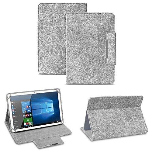NAUC Filz Hülle für XIDO Z120 Z110 X111 X110 Z90 Tablet umweltfre&lichem Filz praktischer Standfunktion Schutztasche Stand Tasche Cover Hülle, Farben:Hell Grau