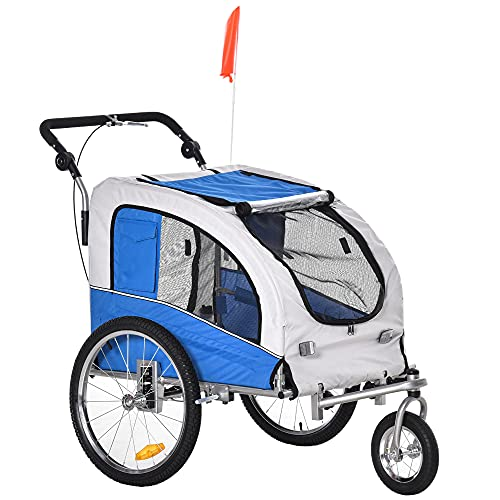 Aosom Elite II Pet Dog Bike Bicycle Trailer Stroller Jogger w/ Suspension