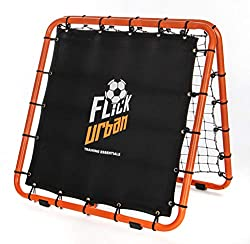 Ultra sturdy 85 x 85cm dual sided rebounder. Folds flat for easy storage and portability 2 distinct rebound sides, allowing the player to switch between medium and fast return speeds Adjusts to 6 different angled positions for varied returns Tests di...