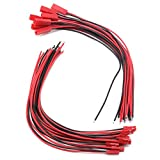 BestTong Silicone Male & Female JST Connector 20 Pairs 22 AWG JST Plug Connector 2 Pin Male Female Plug Connector Cable Wire for LED Lamp Strip RC Toys Battery 8 Inch