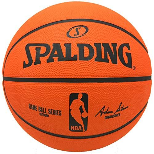 Spalding 83-044Z Basketball No. 7 Rubber Game Ball Reca (Game Ball Replica) Official NBA Licensed