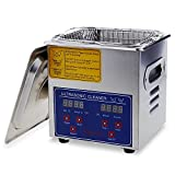 Flexzion Commercial Ultrasonic Cleaner 2L Large Capacity Stainless Steel with Heater and Digital