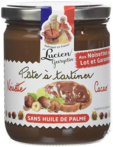 Lucien Georgelin Pâte à Tartiner Noisette du Lot/Garonne/Cacao 400g - Lot de 3