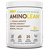 RSP Vegan AminoLean - All Natural Preworkout with Vegan BCAAs, All-In-One Amino Energy, Weight...