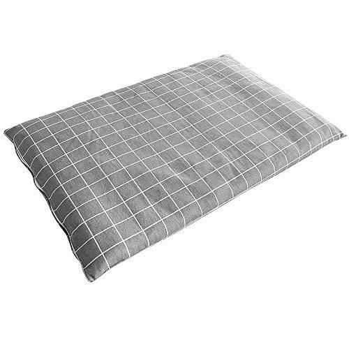 Pet Bed Plaid Mat Cat Beds Blanket Winter Warm Dog House Soft Plaid Mat Cat Beds Cushion Mattress Dog'S Sofa Kennel Xl Gray