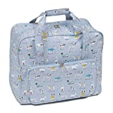 HOBBY GIFT Sewing Machine Carry Case in Matt PVC, Sewing Storage for Sewing Machines and Sewing Accessories, Storage Bag with A Large Capacity for most Sewing Machines, in a contemporary design