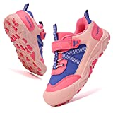 Yapoly Hiking Shoes Boys Girls - Toddlers Athletic Shoes Waterproof Anti-Collision for Trekking Trailing Camping Walking Running - Outdoor Kids Shoes Non-Slip for Little Big Kids Orange 27