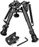 CVLIFE Carbon Fiber Bipod with Picatinny Rail Adapter 6-9 Inches Rifle Bipod