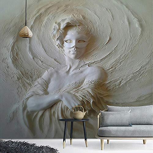 Papel Pintado 3D Murales - Mujer estatua gris- Fotomurales
