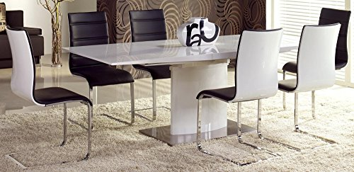 Table A Manger Design LAQUÉ Extensible 180÷220/90/76 CM - Blanc