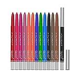 ARTIFUN 12 Colours Eyeliner Set,2 in 1 Eyeliner & Eyeshadow Pen Waterproof Long-Lasting,Highly Pigmented Coloured Eyeliner Pencil (1 Set - 12PCS)