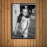 zhuifengshaonian Mac Miller Rap Hip Hop música Estrella Cantante Arte Pintura Lienzo póster Pared decoración del hogar Obra de Arte(ZE-722) Sin Marco Poster 40x60cm