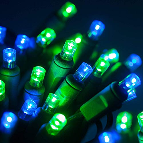 christmas lights green and blue - 1