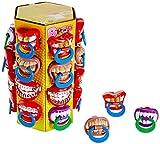 Display mit 24 Lutschern mit schrecklichen Zähnen WOM BPOP Mix Tower Taste Your Mood Schnuller-Lutscher mit verschiedenen witzigen Designs, 24 Stück (360 g)