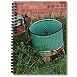 Lined Spiral Notebook Antique Journaling Wringer Composition Washer Planner And Journal Laundry Notepad Tub Notebooks Blank Hand Writing Paper Graph Paper 5x5