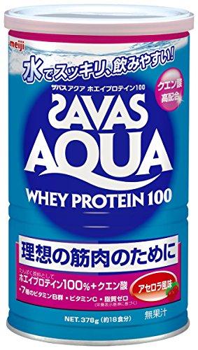 ザバス(SAVAS) アクアホエイプロテイン100 アセロラ風味【18食分】 378g