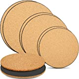 6 Pieces Cork Plant Mat Plastic Plant Mat Round Plate Pad for Garden, Courtyard, Pot Mat, Indoor Outdoor and DIY Craft Project (6 Inches, 8 Inches, 10 Inches)