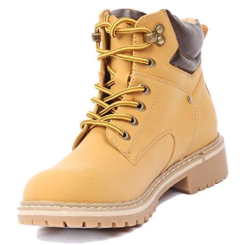 Coshare Women's Fashion Ankle High Waterproof Combat Hiking Military...