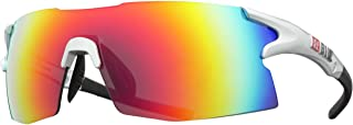 Bliz Active Unisex-Adult Tempo 9021-14 Wrap Sunglasses, Shiny Silver / Rubber Black, 0 mm