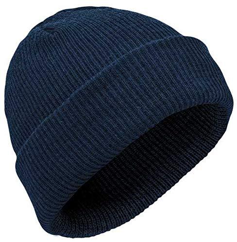 Elbe Beanie Bonnet en laine mérinos Bleu marine