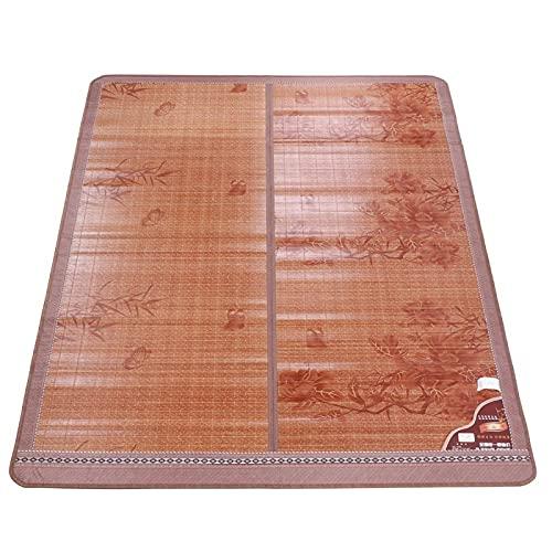 VINGVO Estera de bambú, colchones de bambú, Mano de Obra Fina, Durabilidad, Tratamiento de carbonización a Alta Temperatura para Dormitorio, hogar(180 * 195cm, Blue)