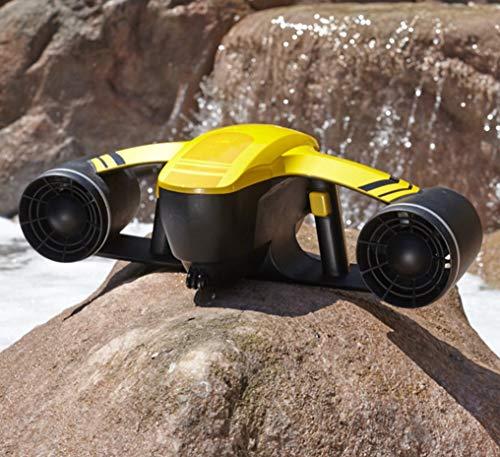 HYLH Unterwasser-Scooter, unbemannter Roboter Explorer Tauch elektrische Wasserdichte Dual Speed Propeller Tauchen Booster Pool Spielzeug Schwimmen Kinder wiederaufladbare Bootfahren gelb