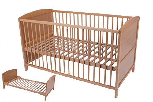 Umbau Babybett - Kinderbett - Gitterbett - Buche 140 x 70 cm
