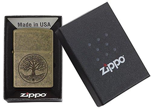 Zippo Feuerzeug Motiv: Baum des Lebens – antikesMessing - 5