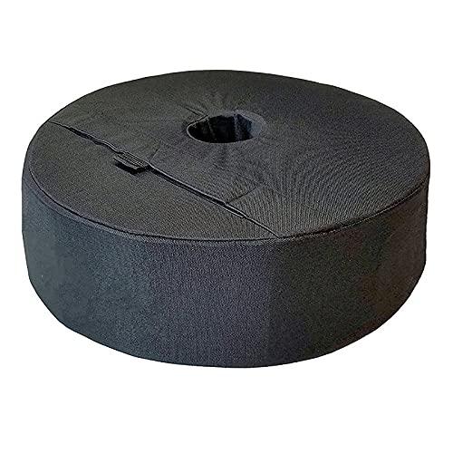 N\P Bolsa De Peso con Base De Sombrilla De Playa Redonda, Bolsa De Peso con Base De Tienda, para Mástiles De Bandera Negro