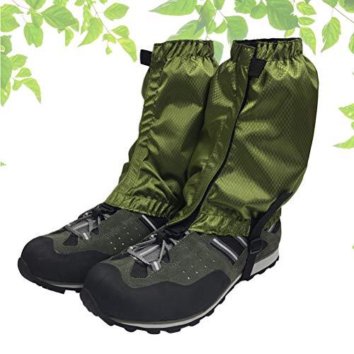 VORCOOL 1 Paar Schnee Gamaschen Leichte Wasserdichte Knöchel Gamaschen für Outdoor Wandern Klettern (Dunkelgrün) - 6