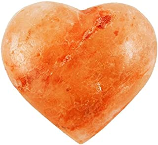 Evolution Salt - Heart Shape Massage - Cleansing Stone Himalayan Salt 6-7 oz