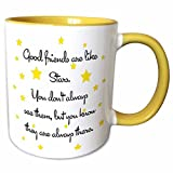 3dRose Mug 193474 8 Good Friends are Like Stars, 11 oz