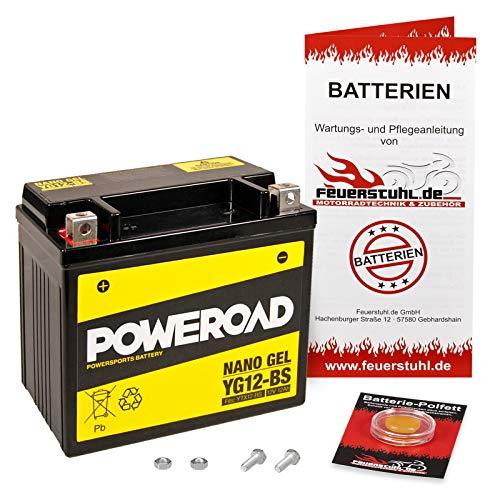 Gel-Batterie für Kawasaki Zephyr 750, 1991-1995 (ZR750C) wartungsfrei, einbaufertig, startklar, inkl. 7,50€ Pfand