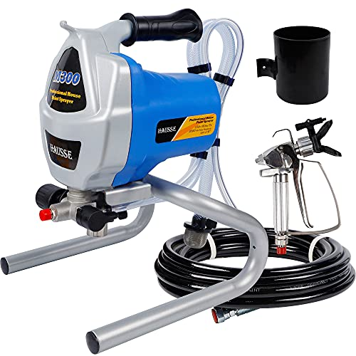 Hausse Electric Airless Paint Sprayer Spray Gun, 3000PSI Project Painter Power Painting for...