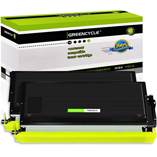 GREENCYCLE 2 Pack TN570 TN-570 Black Toner Cartridge Compatible for Brother DCP-8040D HL-5130 MFC-8220 Laser Printer