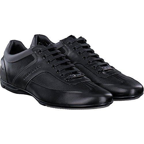 HUGO BOSS Mercedes AMG Formula 1 F1 - Zapatillas deportivas para conducción de piel negra, color Negro, talla 39 EU