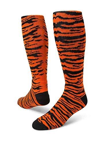 Red Lion Safari Knee-high Sock (Orange/Black - Medium)