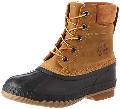 SOREL - Men's Cheyanne II Waterproof Insulated Winter Boot, Chipmunk, Black, 7 M US