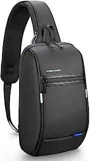 حقيبة يد Kingsons Mini Anti-Theft Little Sling Chest Bag حقيبة يد للرجال مقاومة للماء حقيبة كتف كروسبودي تناسب 9.7 بوصة ipad