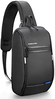 "Kingsons Mini Anti-Theft Little Sling Chest Bag Handbag for Men Waterproof Crossbody Travel Shoulder Bag Fit for 9.7"" ipad"